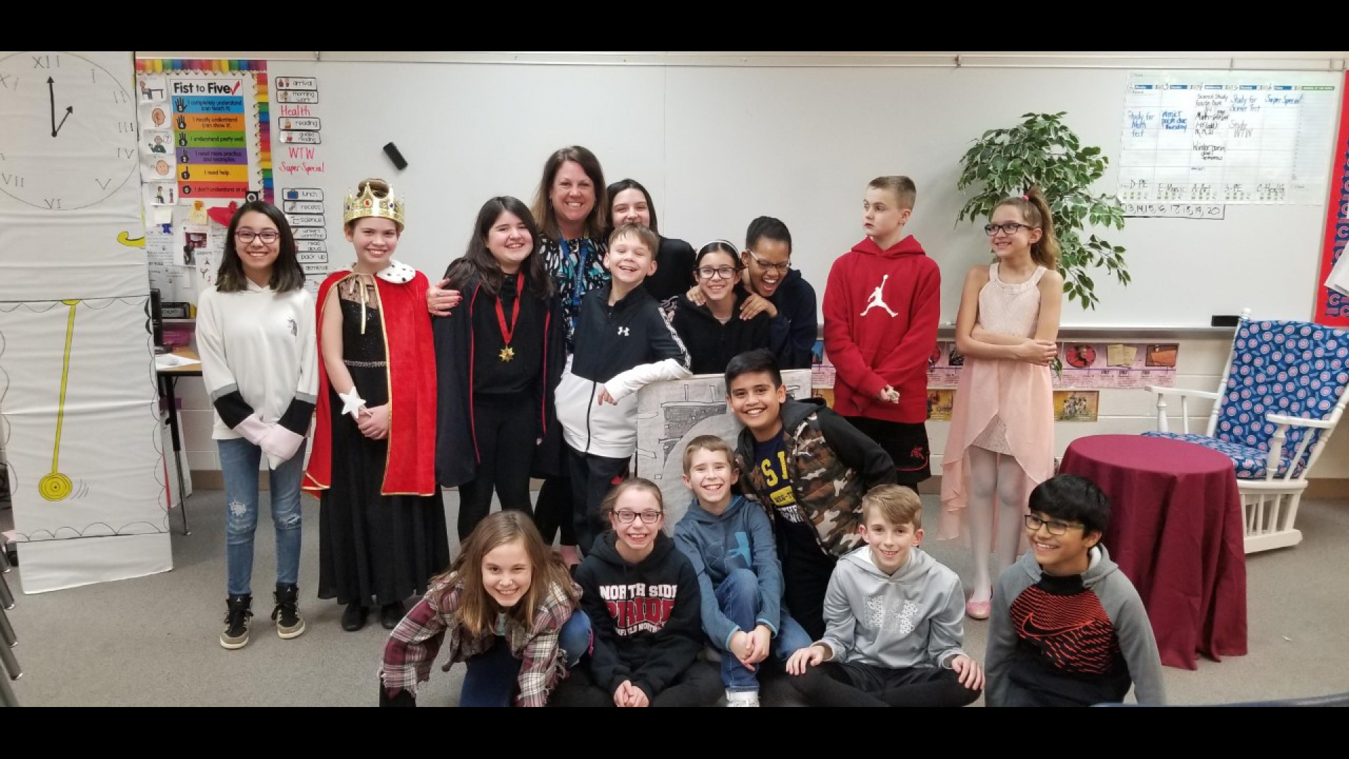 slidshow image - Mrs. Doubek's class performs Reader's Theater -